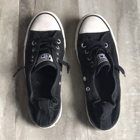 266a9080e1c443 Converse Shoes - GUC Converse ALL STAR black sneakers